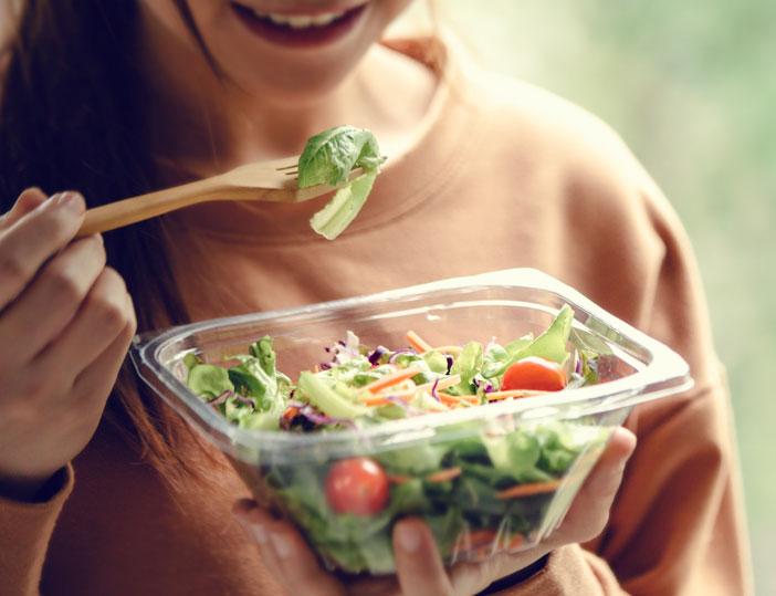 Concept de restauration rapide healthy pour les sportifs